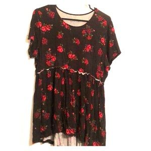 Black top with roses